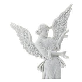 Bas relief angelot 26 cm marbre blanc s2