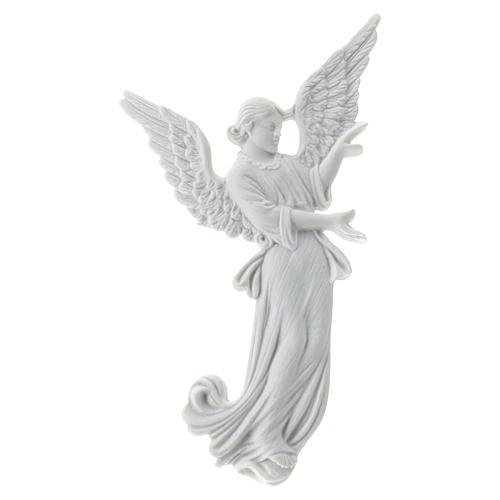 Bas relief angelot 26 cm marbre blanc 1