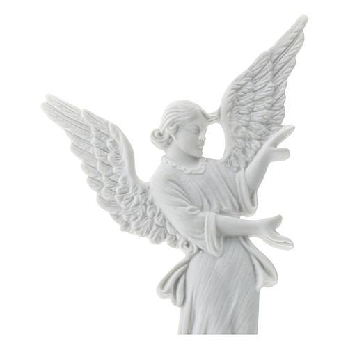 Bas relief angelot 26 cm marbre blanc 2