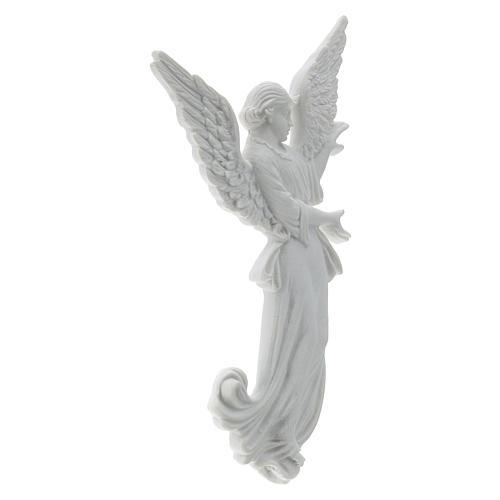 Bas relief angelot 26 cm marbre blanc 4