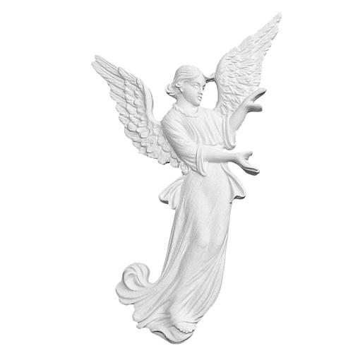Angel bas-relief made of reconstituted carrara marble, 26 cm 1