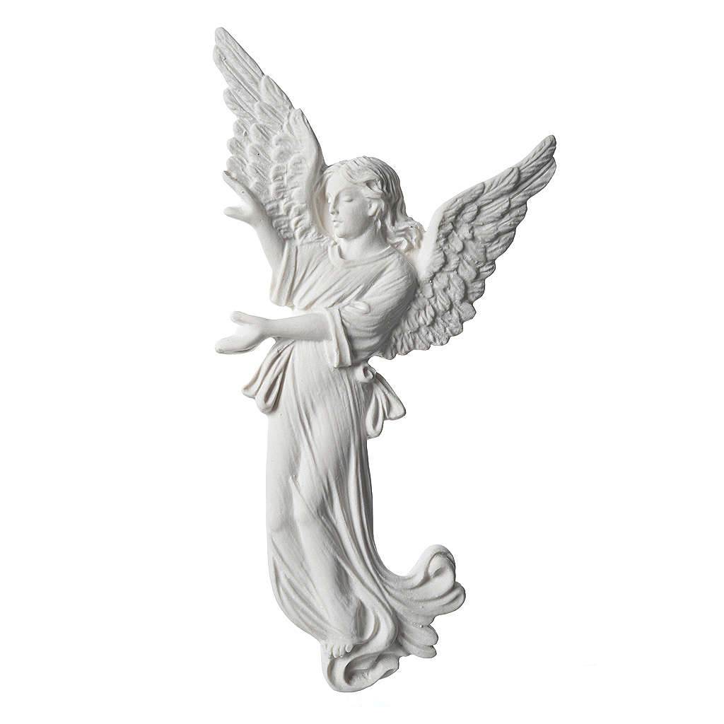 Angel, 26 cm bas-relief made of reconstituted carrara marble 3