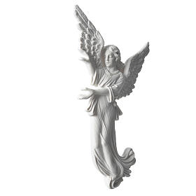 Angel, 26 cm bas-relief made of reconstituted carrara marble s2