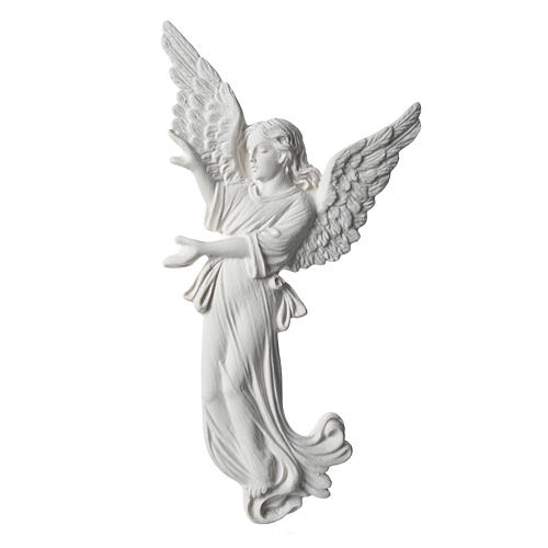 Angel, 26 cm bas-relief made of reconstituted carrara marble 1
