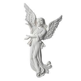 Applique angelot 26 cm marbre blanc s1