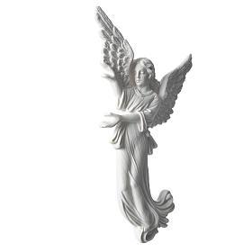 Applique angelot 26 cm marbre blanc s2