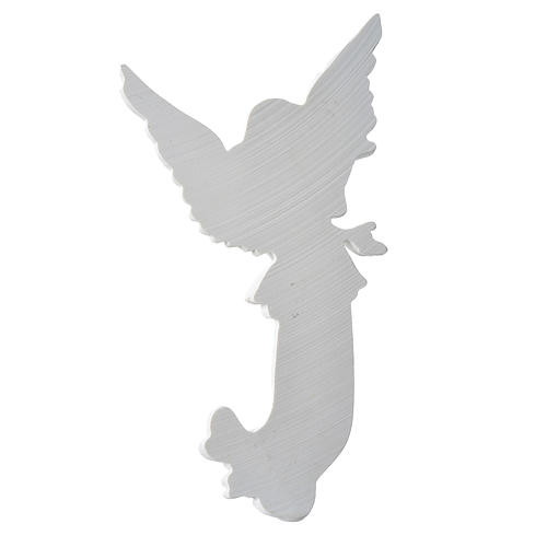Applique angelot 26 cm marbre blanc 3