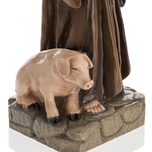 Statua Sant'Antonio Abate 35 cm marmo sintetico dipinto 3