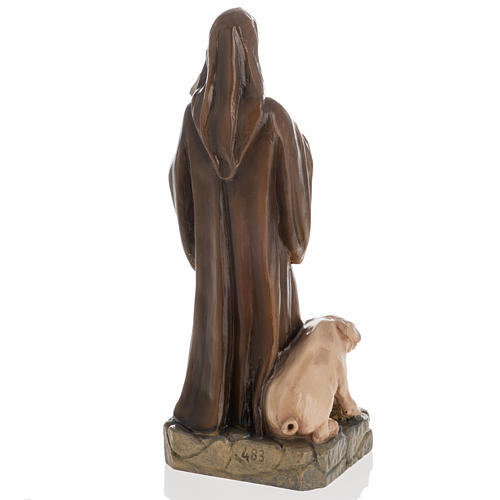 Saint Anthony the Abbot, 35 cm in painted Reconstituted marble 6
