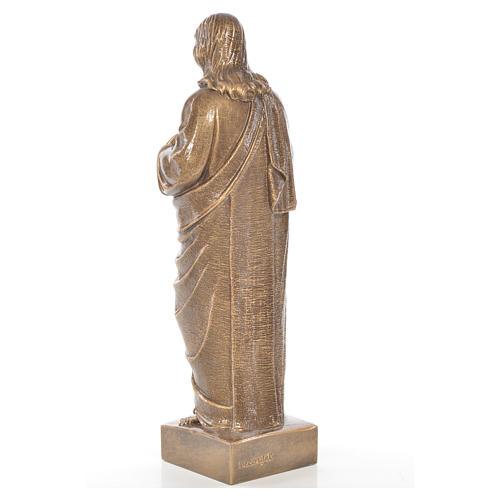 Sacred Heart of Jesus in Carrara marble 19,69in bronze finish 3