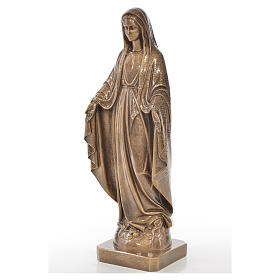 Miraculous Madonna in Carrara marble 19,69in bronze finish s2