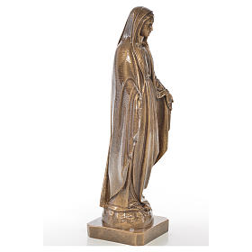 Miraculous Madonna in Carrara marble 19,69in bronze finish s4