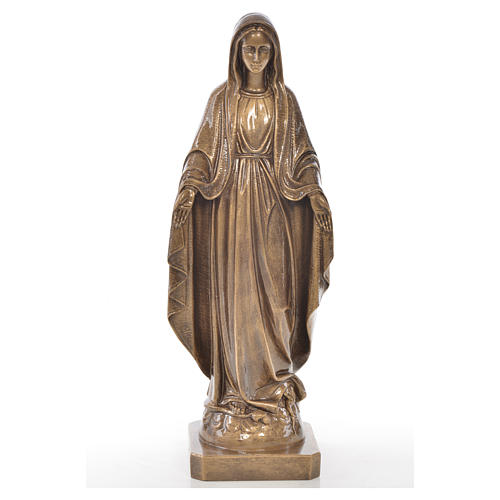 Miraculous Madonna in Carrara marble 19,69in bronze finish 1
