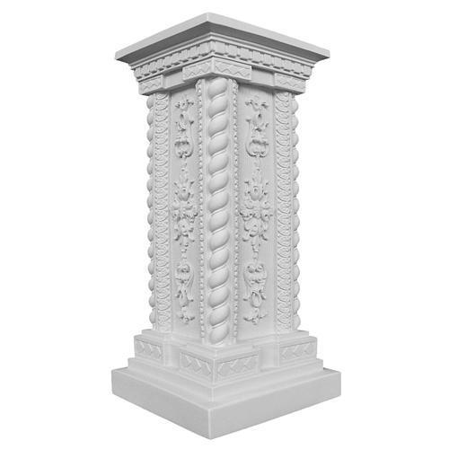 Pilastrino in marmo sintetico 60 cm per statue 1