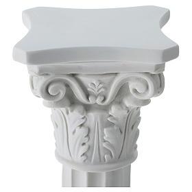 Column in full relief, reconstituted white Carrara marble s2