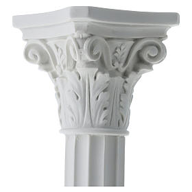 Column in full relief, reconstituted white Carrara marble s4