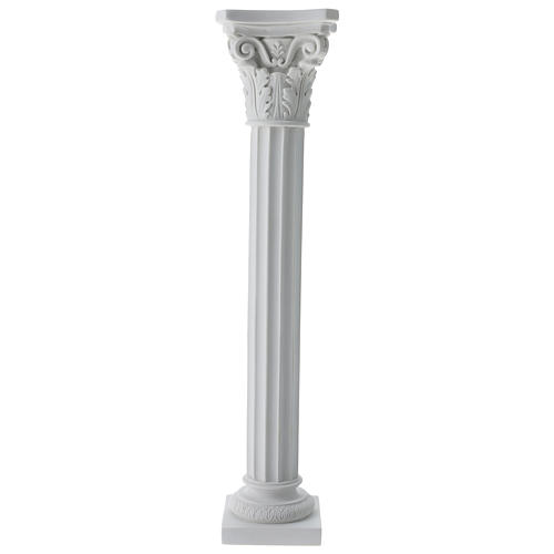 Column for statues in full relief, reconstituted Carrara marble 1