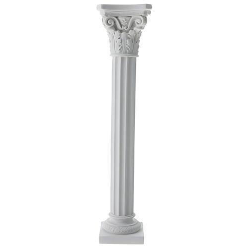 Column in full relief, reconstituted white Carrara marble 1