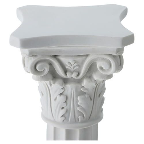 Column in full relief, reconstituted white Carrara marble 2