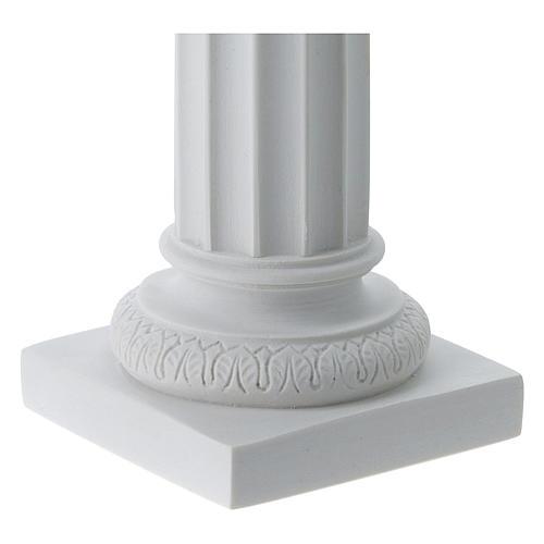 Column in full relief, reconstituted white Carrara marble 3