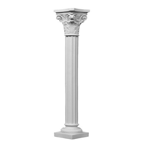 Pilier rond avec chapiteau en marbre reconstitué 1