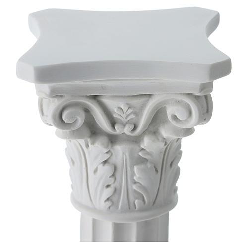 Pilier rond avec chapiteau en marbre reconstitué 2