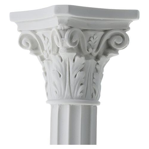 Pilier rond avec chapiteau en marbre reconstitué 4