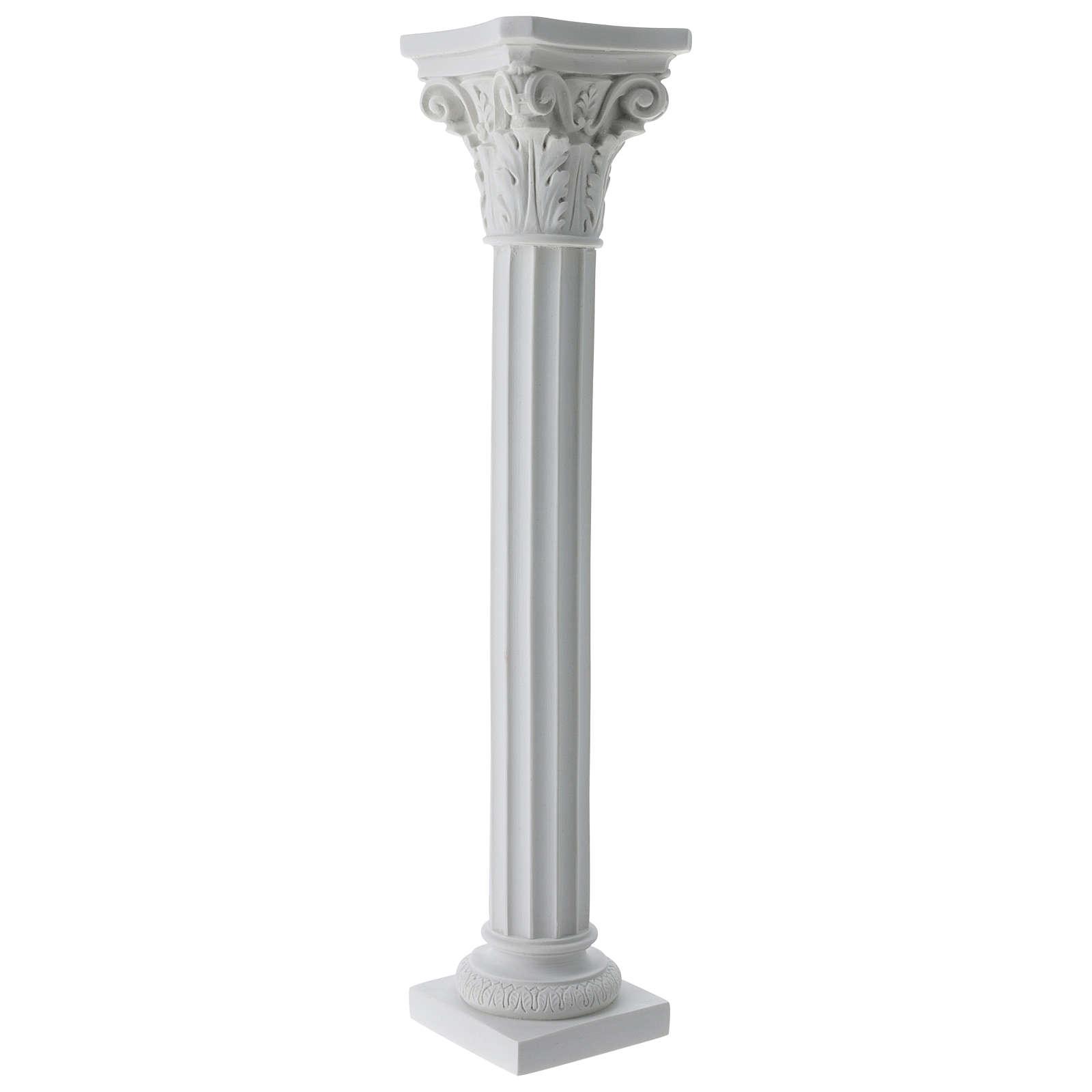 Colonna a tutta tonda in marmo sintetico per statue 4