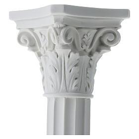 Colonna a tutta tonda in marmo sintetico per statue s4