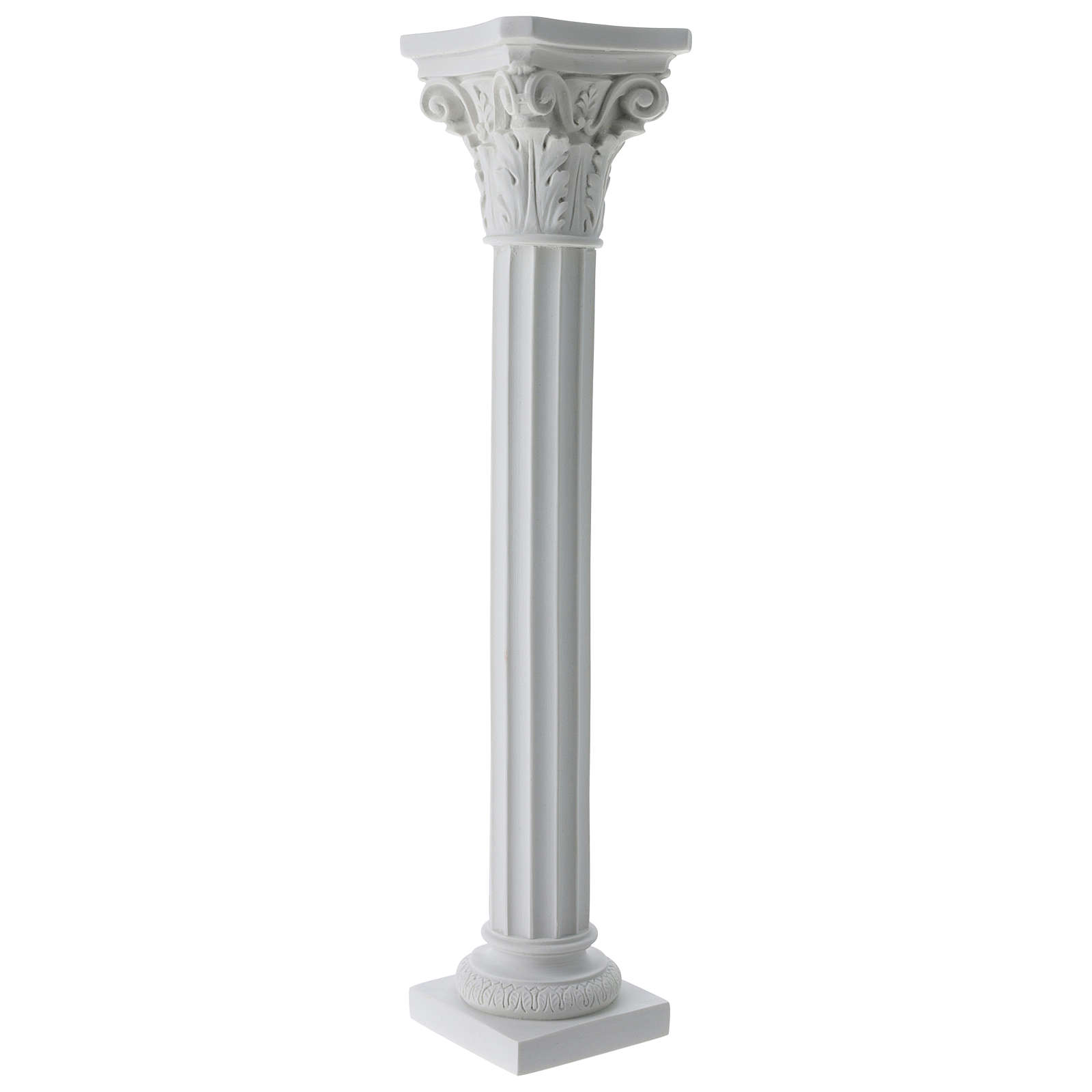Column for statues in full relief, reconstituted Carrara marble 4