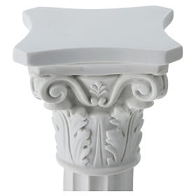 Column for statues in full relief, reconstituted Carrara marble s2