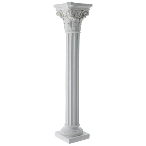 Column for statues in full relief, reconstituted Carrara marble 5