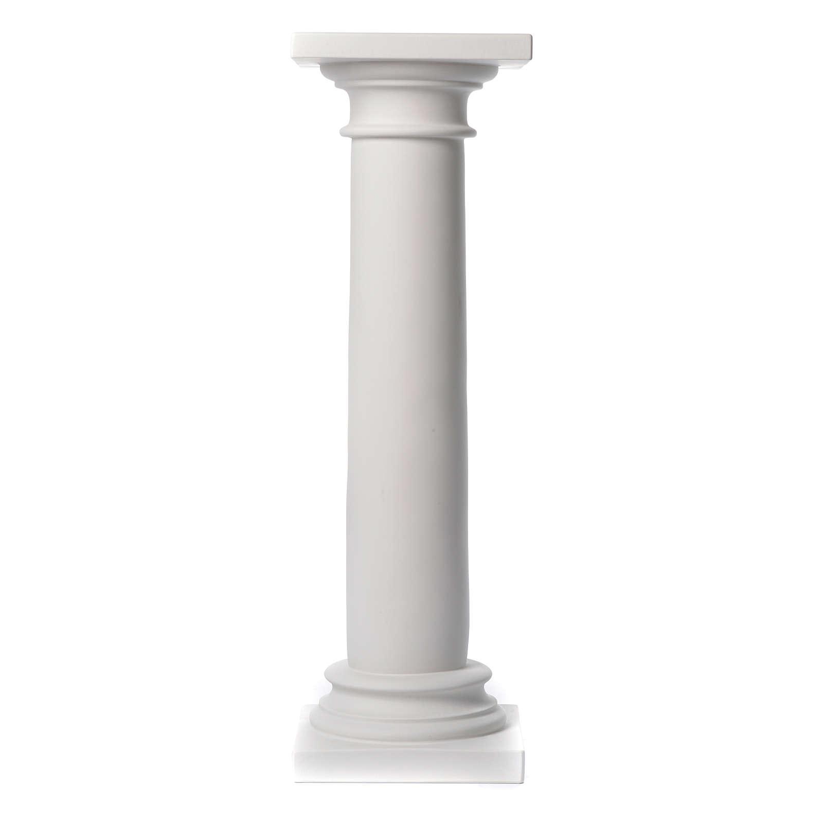 Colonna liscia 100 cm marmo sintetico per statue 4