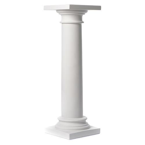 Colonna liscia 100 cm marmo sintetico per statue 1