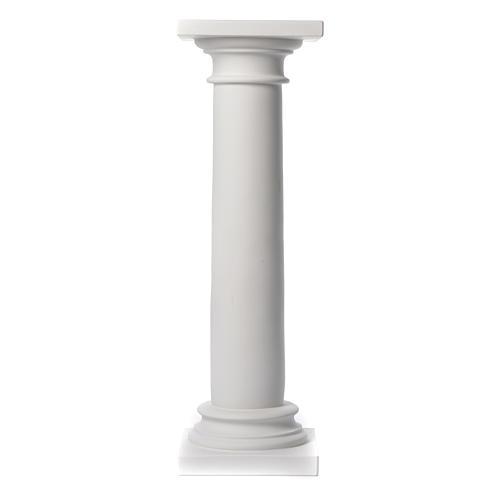 Colonna liscia 100 cm marmo sintetico per statue 2