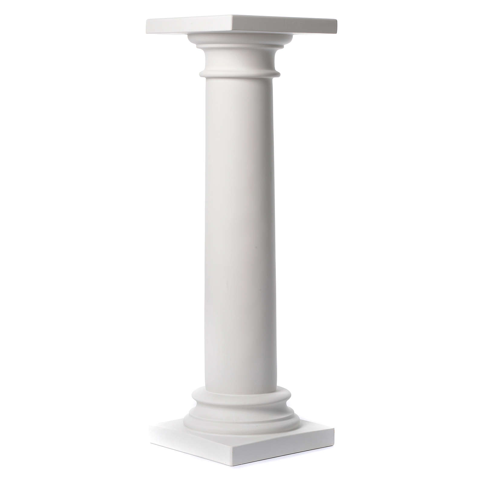 Column, polished finish, in reconstituted Carrara marble 39,37in 4