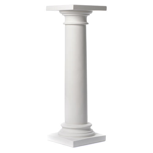 Column, polished finish, in reconstituted Carrara marble 39,37in 1