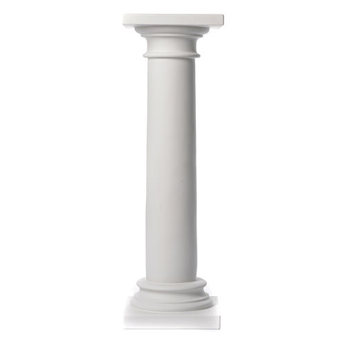 Column, polished finish, in reconstituted Carrara marble 39,37in 2