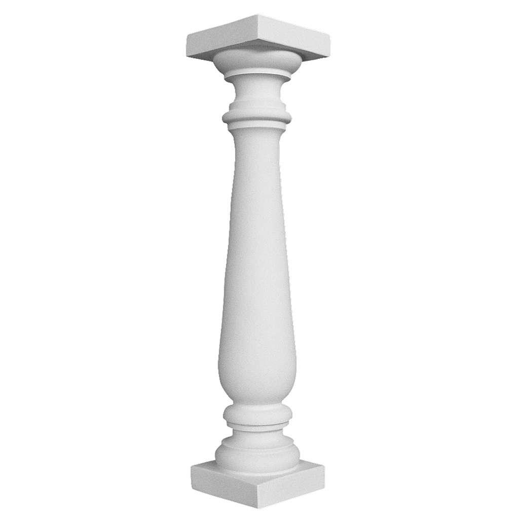 Colonna stile balaustra 70 cm marmo sintetico per statue 4