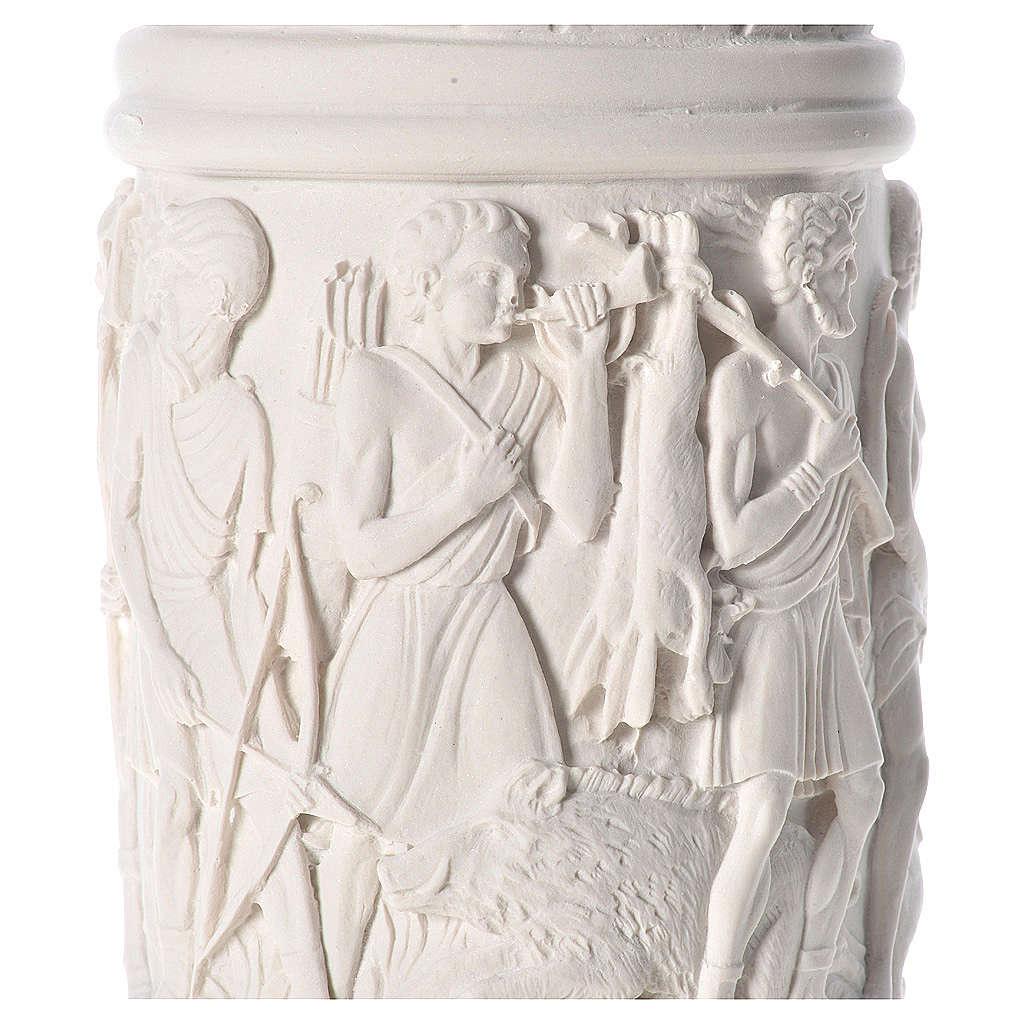 Pilier décoré marbre reconstitué, 80 cm 4