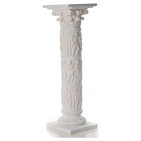 Pilier décoré marbre reconstitué, 80 cm s2