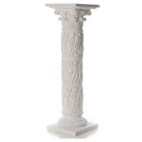 Pilier décoré marbre reconstitué, 80 cm s3