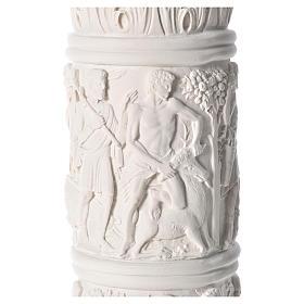 Pilier décoré marbre reconstitué, 80 cm s6