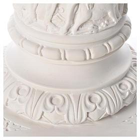 Pilier décoré marbre reconstitué, 80 cm s7