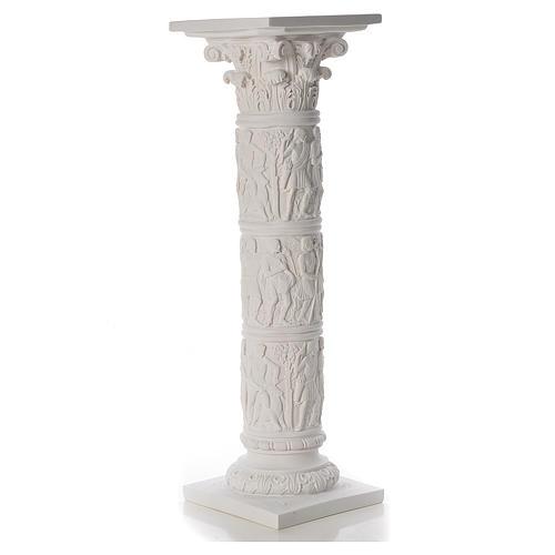 Pilier décoré marbre reconstitué, 80 cm 2
