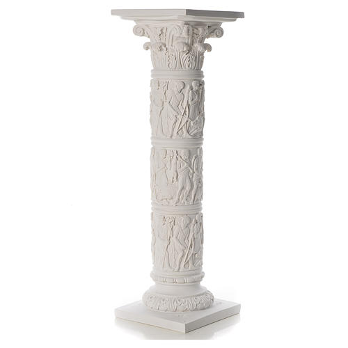 Pilier décoré marbre reconstitué, 80 cm 3