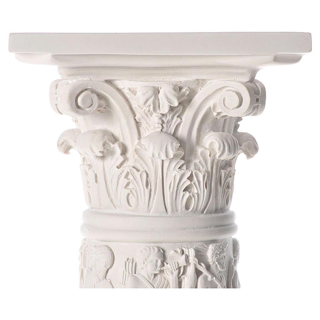 Colonna per statue 80 cm marmo sintetico 4