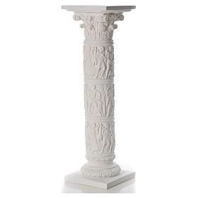 Colonna per statue 80 cm marmo sintetico s1