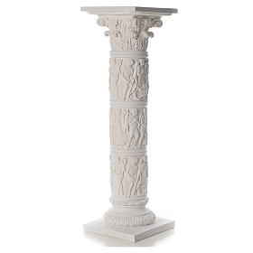 Colonna per statue 80 cm marmo sintetico s3