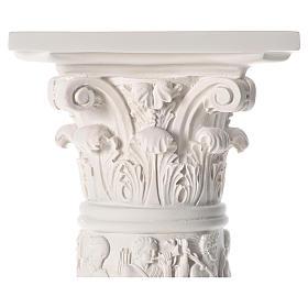 Colonna per statue 80 cm marmo sintetico s4